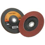 3M Cubitron II Flap Disc 967A, 7 in, 60 Grit, 7/8 in Arbor, 8,600 rpm, Type 27, 5 CA, #7000148185