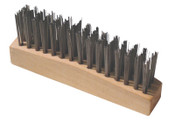 Anchor Products Chipping Hammer Brush, 3 X 15 Rows,Carbon Steel Wire, Straight Wood Handle, 1 EA, #94928