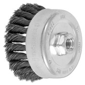 Advance Brush Std. Twist Single Row Cup Brush, 4 in Dia., 5/8 Arbor, 1 1/4 x .014 Carbon Steel, 1 EA, #82522