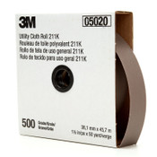 3M 211K Utility Cloth Rolls, 1 1/2 in, 50 yd, 500 Grit, 1 EA, #7010308048
