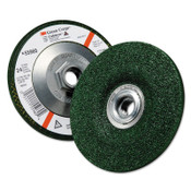 3M Green Corps Depressed Center Wheel, 4 1/2 in Dia, 1/4 Thick, 5/8 Arbor, 24 Grit, 10 BOX, #7010308189