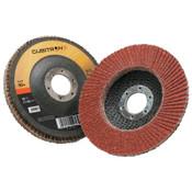 3M Cubitron II Flap Disc 967A, 4 1/2 in, 80 Grit, 7/8 in Arbor, 13,300 rpm, Type 27, 10 CA, #7000148183
