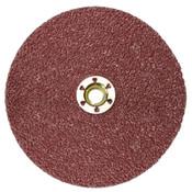 3M Cubitron II Fibre Discs 987C, Shaped Ceramic Grain, 5 in Dia., 36 Grit, 25 DC, #7100011522
