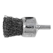 "Advance Brush Standard Duty Crimped End Brushes, Carbon Steel, 20,000 rpm, 1"" x 0.02"", 10 EA, #82976"