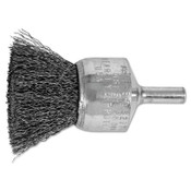 "Advance Brush Standard Duty Crimped End Brushes, Carbon Steel, 20,000 rpm, 1"" x 0.01"", 1 EA, #82974"