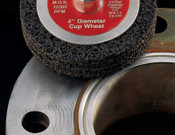 3M Scotch-Brite Clean and Strip Cup Wheels, 4 in, Extra Coarse, Silicon Carbide, 1 EA, #7000120564