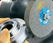 3M Scotch-Brite EXL Deburring Wheels, 8 X 3, Medium, 4,500 rpm, Aluminum Oxide, 1 EA, #7000000735