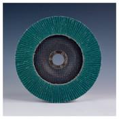 3M Flap Discs 577F, 4 1/2 in Dia., 40 Grit, 7/8 in Arbor, 13300 rpm, 10 CA, #7000144120