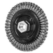 Advance Brush COMBITWIST Stringer Wheel, 4 7/8 D x 3/16 W, Stainless Steel Wire, 5/8 in - 11, 10 EA, #82759