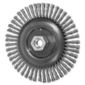 Advance Brush COMBITWIST Stringer Wheel, 6 in D x 3/16 in W, Stainless Steel Wire, 48 Knots, 1 EA, #82763
