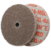 3M Scotch-Brite EXL Unitized Deburring Wheel, 3 X 1/8 X 1/4, Medium, Aluminum Oxide, 40 EA, #7000120739