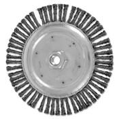 Advance Brush COMBITWIST Stringer Wheel, 6 7/8 in D x 3/16 in W, Carbon Steel Wire, 72 Knots, 10 EA, #82701