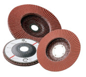 3M Abrasive Flap Discs 747D, 7 in, 80 Grit, 7/8 in Arbor, 8,600 rpm, 5 CS, #7000045649