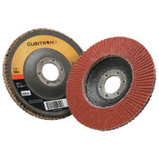 3M Cubitron II Flap Disc 967A, 4 1/2 in, 60 Grit, 7/8 in Arbor, 13,300 rpm, Type 29, 10 CA, #7000148188