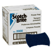 3M Scotch-Brite 2000 Power Pads, Dark Blue, Commercial Kitchen Cleaning, 20 CS, #7000029659