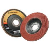 3M Cubitron II Flap Disc 967A, 4 1/2 in, 80 Grit, 7/8 in Arbor, 13,300 rpm, Type 29, 10 CA, #7000148189