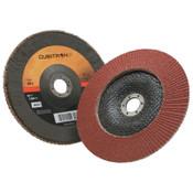 3M Cubitron II Flap Disc 967A, 7 in, 40 Grit, 7/8 in Arbor, 8,600 rpm, Type 29, 5 CA, #7000148190