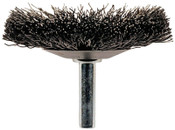 "Advance Brush Flared Crimped Cup Brushes, Stainless Steel, 20,000 rpm, 3"" x 0.006"", 1 EA, #82876"