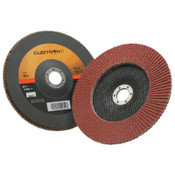 3M Cubitron II Flap Disc 967A, 7 in, 40 Grit, 7/8 in Arbor, 8,600 rpm, Type 27, 5 CA, #7000148184
