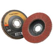 """3M Cubitron II Flap Disc 967A, 4 1/2"""", 40 Grit, 7/8"""" Arbor, 13,300 rpm, Type 27, 10 CA, #7000148181"""