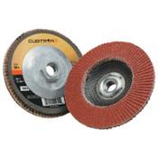 3M Cubitron II Flap Disc 967A, 4 1/2 in, 80 Grit,  Arbor, 13,300 rpm, 10 CA, #7100031307