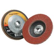 3M Cubitron II Flap Disc 967A, 4 1/2 in, 60 Grit, 13,300 rpm, Type 27, 10 CA, #7100058060