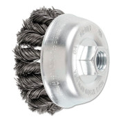 Advance Brush COMBITWIST Knot Wire Cup Brush, 3 1/2 in Dia., .014 in Carbon Steel Wire, 1 EA, #82401