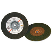 3M Depressed Center Wheel, 9 in Dia, 1/4 in Thick, 24 Grit Ceramic Alum. Oxide, 20 CS, #7010325732