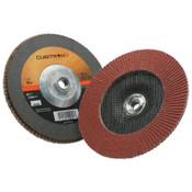 3M Cubitron II Flap Disc 967A, 7 in, 40 Grit, 5/8-11 Arbor, 8,600 rpm, Type 27, 5 CA, #7010363290