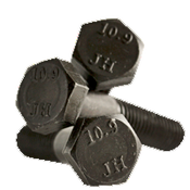 M6-1.00x60 mm (PT) Hex Cap Screws 10.9 DIN 931 / ISO 4014 Coarse Alloy Plain (1,200/Bulk Qty.)
