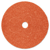 3M 787C Fibre Discs, Ceramic, 4 1/2 in Dia, 7/8 in Arbor, 36+ Grit, 100 CA, #7100099275