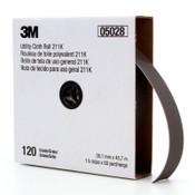 3M 211K Utility Cloth Rolls, 1 1/2 in, 50 yd, 120 grit, 1 EA