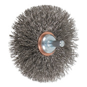 "Advance Brush Mounted Crimped Wheel Brushes, Stainless Steel, 20,000 rpm, 3"" x 0.014"", 1 EA, #82913"