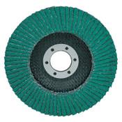 3M Flap Discs 577F, 4 1/2 in, 40 Grit,  5/8-11 Arbor, 13,300 rpm, Type 29, 10 EA, #7000144122