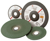 "3M Green Corps Flexible Grinding Wheel, 4 1/2"" Dia, 7/8 Arbor,  1/8"" Thick, 46 Grit, 1 EA, #7000118591"