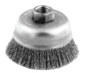 Advance Brush Crimped Cup Brush, 6 in Dia., 5/8-11 Arbor, 0.014 in Steel Wire, 1 EA, #82516