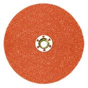 3M 787C Fibre Discs, Ceramic, 4 1/2 in Dia, 5/8 in - 11 Arbor, 36+ Grit, 100 CA, #7100099291