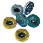 3M Scotch-Brite Bristle Discs, 4 1/2 in, 80, 12,000 rpm, Yellow, 1 EA, #7100138174