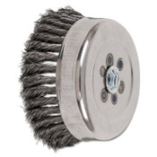 Advance Brush Standard Twist Single Row Cup Brush, 6 in Dia., 5/8-11 Arbor, .014 Carbon Steel, 1 EA, #82545