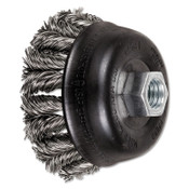 Advance Brush COMBITWIST Knot Wire Cup Brush, 3 1/2 in Dia., .02 in Stainless Steel Wire, 1 EA, #82431