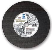 "14"" x 1/8""(5/32) x 20mm Cut-Off Wheel for Portable Gas Saw - Double Reinforced - Asphalt, Mercer Abrasives 611040 (10/Pkg)"