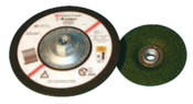 3M Flexible Grinding Wheel, Quick Change, 4 1/2 in Dia, 1/8 in Thick, 36 Grit, 40 WH, #7000118597