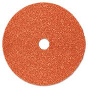 3M Cubitron II Fibre Discs 987C, Precision Shaped Ceramic Grain, 5 in Dia., 80 Grit, 100 CA, #7000119210