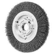 Advance Brush Medium Crimped Wire Wheel Brush, 8 D x 1 1/16 W, .014 Carbon Steel, 4,500 rpm, 1 EA, #81128