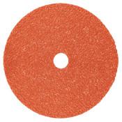 3M Cubitron II 987C Fibre Discs, Ceramic, 7 in Dia, 7/8 in Arbor, 80+ Grit, 100 CA, #7000119211