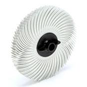 3M Scotch-Brite Radial Bristle Discs, 3 in Dia, 3/8 in Arbor, Ceramic, 40 BX, #7100138296
