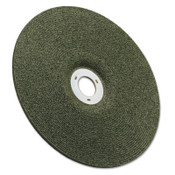 3M Green Corps Wheel, 4 1/2 in Dia, 1/8 in Thick, 7/8 Arbor, 36 Grit Ceramic, 40 CA, #7000118488