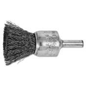 "Advance Brush Standard Duty Crimped End Brushes, Carbon Steel, 22,000 rpm, 3/4"" x 0.01"", 10 EA, #82969"