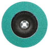 3M Flap Discs 577F, 4 in, 80 Grit,  5/8 Arbor, 13,300 rpm, Type 29, 10 CA, #7010362523