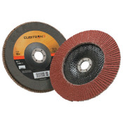 3M Cubitron II Flap Disc 967A, 7 in, 80 Grit, 7/8 in Arbor, 8,600 rpm, Type 29, 5 DC, #7000148192
